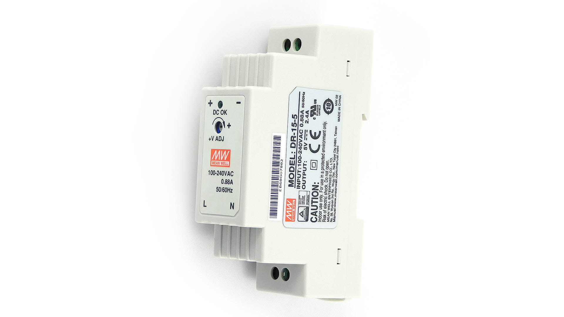 Nettigo: DIN rail power supply Mean Well 5V 2 4A