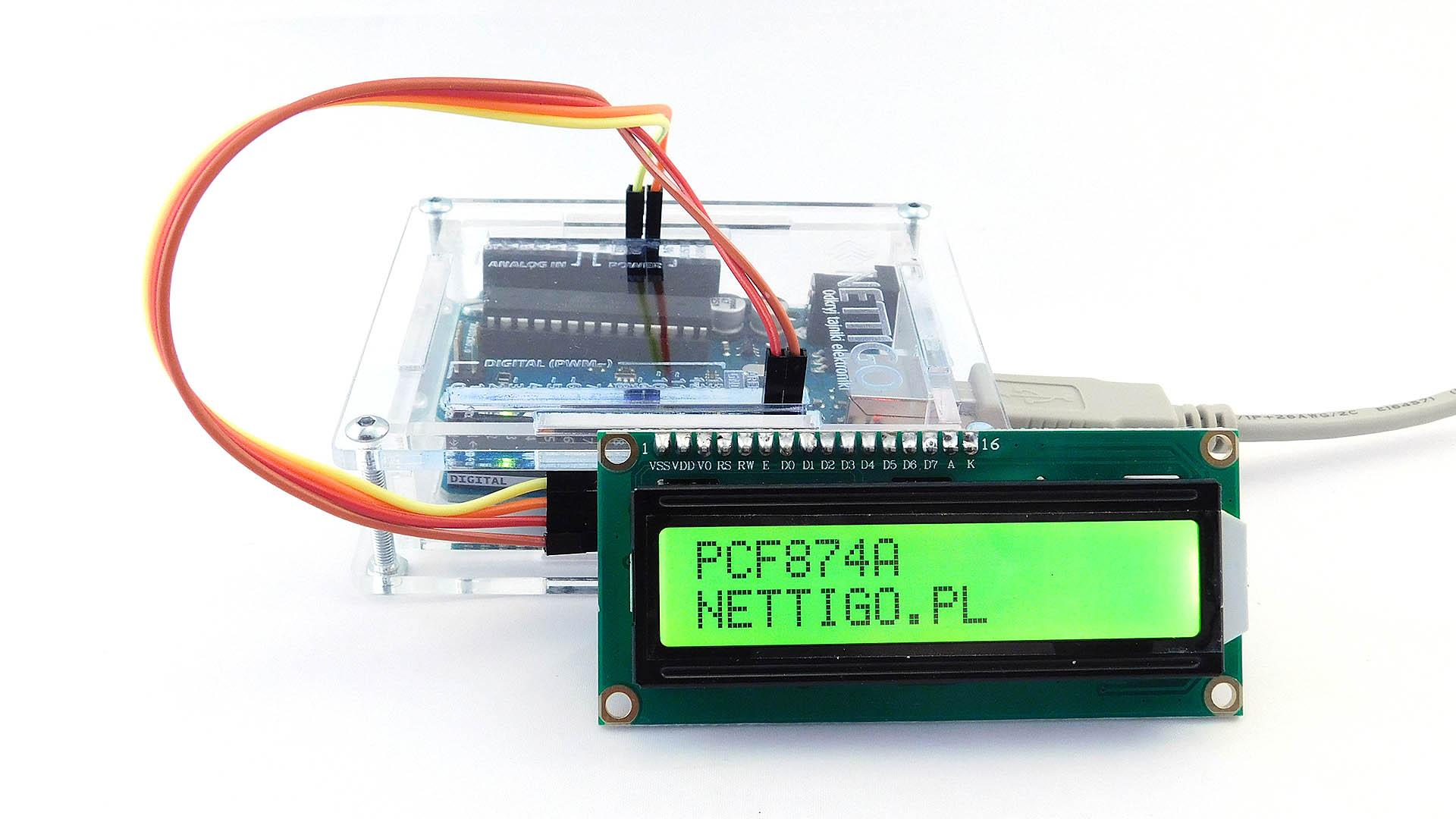 Nettigo: LCD 2x16 I2C green