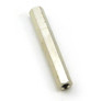 Nickel plated brass hex spacer 35mm female-female
