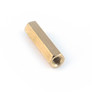 Brass hex spacer 18mm female-female