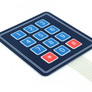 Membrane keypad with 12 buttons
