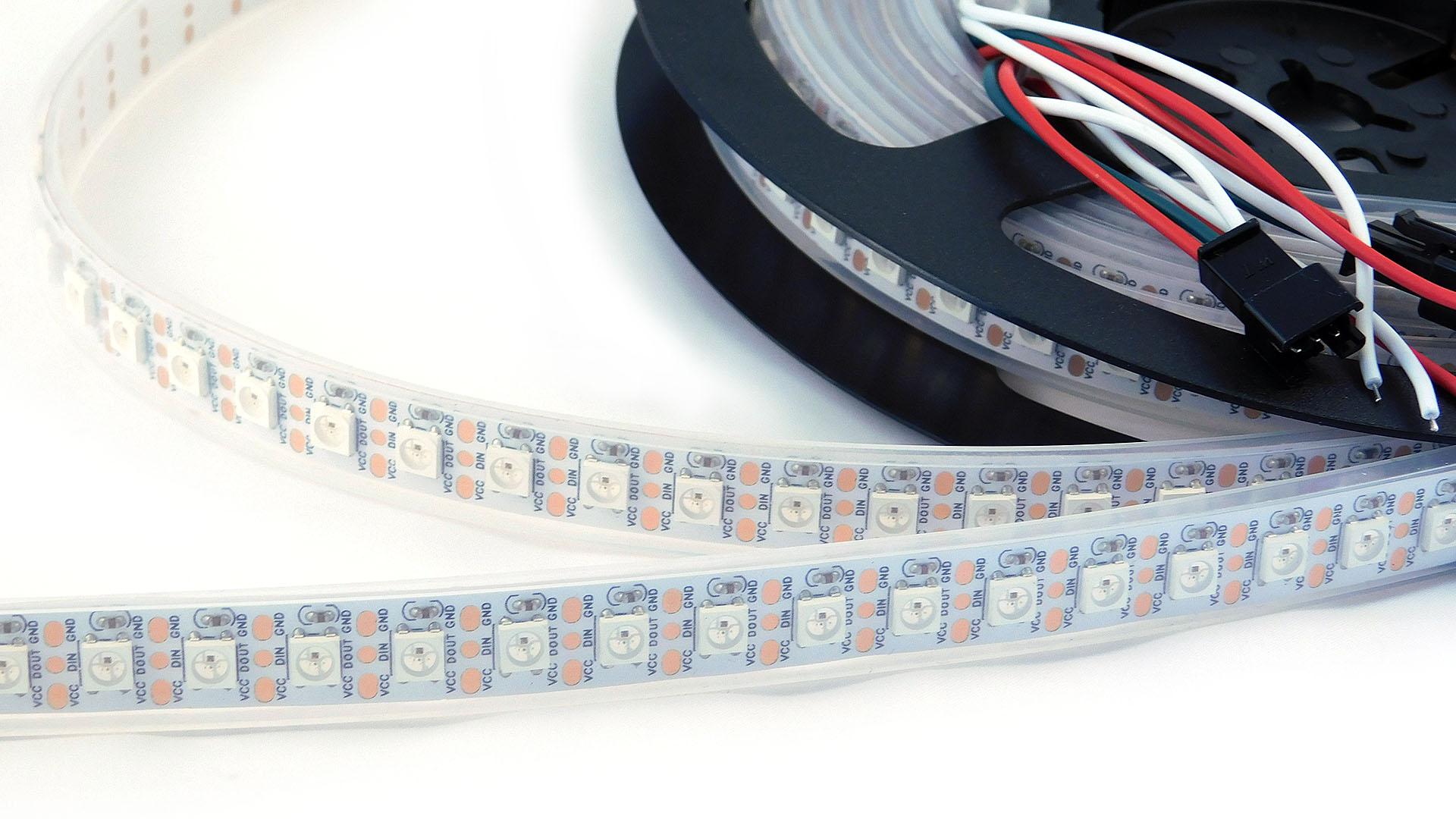 Nettigo Led Strip Rgb Ws2812b 5v White 96 M Ip67 Waterproof Flasher