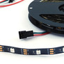 LED strip RGB WS2812B, 5V, black, 30/m, IP30