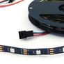LED strip RGB WS2812B, 5V, black, 30/m, IP30