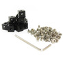 MakerBeam 12 pieces of corner cubes black anodised