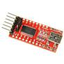 USB/UART converter FTDI FT232, miniUSB