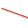 Goldpin header 1x40 raster 2.54 mm red