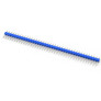 Goldpin header 1x40 raster 2.54 mm blue