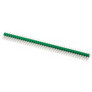 Goldpin header 1x40 raster 2.54 mm green