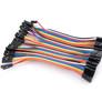 Jumper wires, F-F, 40 pcs, 10 cm