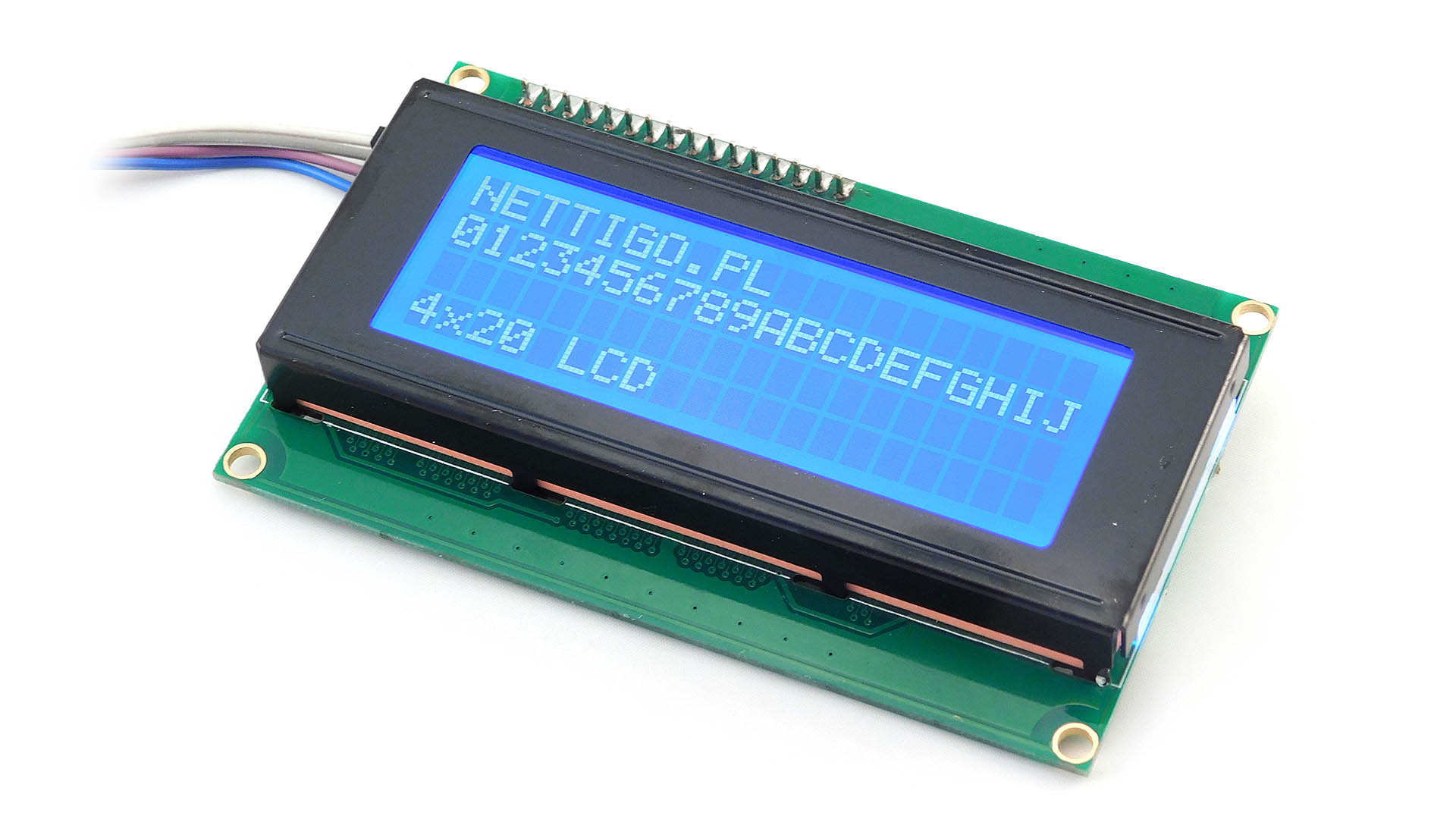 Nettigo: LCD 4x20 I2C blue