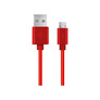 Esperanza EB177R microUSB cable 0.5m red