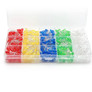 LED 5mm set - 500 pcs - red, yellow, blue, green and white