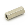 Nickel plated brass hex spacer 12mm female-female