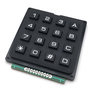 Black numeric keypad 4x4
