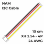 NAM I2C cable XH2.54-4P 10cm 24AWG