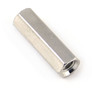 Brass hex spacer 10 mm, F/F, M3, nickel plated