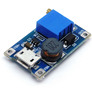 DC/DC STEP-UP converter MT3608 5-28V 2A, microUSB connector