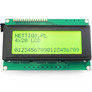 Character LCD display 4x20 green/black